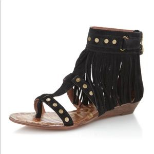 Sam Edelman Dazey Fringe Boho Studded Sandal | 6.5